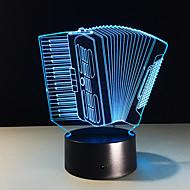 1pc harmonika farverige vision stereo LED lampe 3d lampe farverige gradient akryl lampe natlampe vision