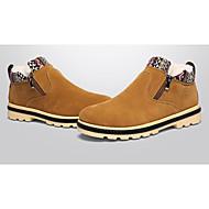 Herre-PU-Flat hæl-Komfort-Støvler-Sport-Svart Blå Gul