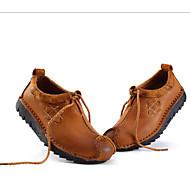 tanie Obuwie męskie-Męskie Komfortowe buty Skóra nappa Wiosna / Lato / Jesień Oksfordki Jasnobrązowy / Impreza / bankiet