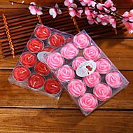 handmade trandafir formă lumanari vacanță pvc cutie trandafiri acasă decor