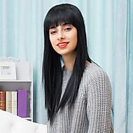 aantrekkelijk gelaagde mooie lange capless pruiken natural straight human hair