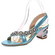 baratos Sapatos Femininos-Mulheres Sapatos Gliter / Materiais Customizados / Courino Primavera / Verão / Outono Conforto / Inovador Sandálias Salto Robusto / Salto