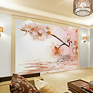 Floral Art Deco 3D Home Decoration Contemporary Wall Covering, Canvas  Material Adhesive Required Mural, Room Wallcovering