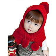 Mädchen Hüte & Kappen Winter Strickware Rosa Rot Gelb Beige