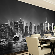 JAMMORY Art DecoWallpaper For Home Wall Covering Canvas Adhesive required Mural Black and White Night XL XXL XXXL