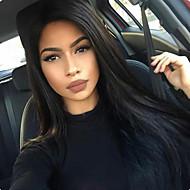 Ženy Paruky z přírodních vlasů Remy Se síťkou Celokrajkové 150% 180% Hustota Rovné Paruka Sytě černá Černá Tmavě hnědá Mediumt Browm