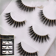 Eyelashes Full Strip Lashes Crisscross Natural Long Fiber Transparent Band