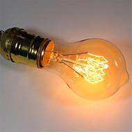 baratos Incandescente-1pç 40 W E26 / E27 A60(A19) Branco Quente 2300 k Retro / Regulável / Decorativa Incandescente Vintage Edison Light Bulb 220-240 V