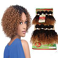 Gerçek Saç Düz Brezilya Saçı Ombre Kıvırcık Kıvırcık Dalgalar Saç uzatma 1 Parça Siyah / Çilek Sarışın Siyah / Orta Auburn Siyah / Bordo