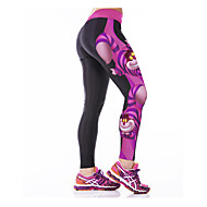 Mulheres Leggings de Corrida Leggings de Ginástica Secagem Rápida Respirável Compressão Elástico camadas de base Meia-calça Calças para