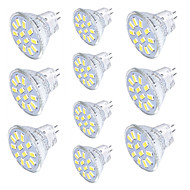 cheap LED Bulbs-10pcs 3W 250lm GU4(MR11) LED Spotlight MR11 12 LED Beads SMD 5733 Decorative Warm White Cold White 30V