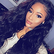 100% Human Virgin Hair Lace Wig Lace Front Natural Water Wave Lace  Wig-glueless with Baby Hair