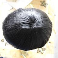 miesten hiuslisäke 6 * 8size 100% ihmisen neitsyt hiusten väri 1 #