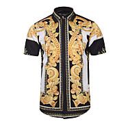 Tynn Klassisk krage Skjorte Herre - Geometrisk, Trykt mønster Bohem / Kortermet