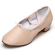 billige Moderne sko-Dame Ballettsko Kunstlær Høye hæler Lav hæl Kan spesialtilpasses Dansesko Svart / Rød / Rosa / Innendørs / Ytelse / Trening