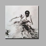 מצויר ביד מופשט אנשים מרובע,מודרני קלאסי פנל אחד בד ציור שמן צבוע-Hang For קישוט הבית