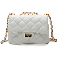 Women Bags All Seasons PU Shoulder Bag for Event/Party White Black Apricot Fuchsia