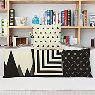 4つ 個 リネン 枕カバー,ストラップ柄 幾何学柄 水玉柄 コンテンポラリー ユーロ