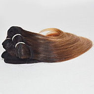 İnsan saç örgüleri Düz Brezilya Saçı Vücut Dalgası 3 Parça saç örgüleri