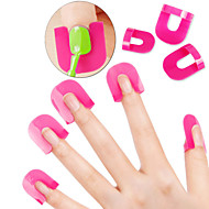 26pcs reusable soft plastic nail polish stencil with 10 sizes