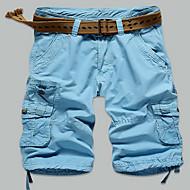 Muškarci Veći konfekcijski brojevi Ravan kroj Slim Kratke hlače Chinos Hlače Jednobojni