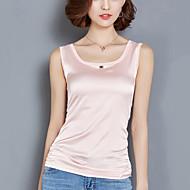 Veći konfekcijski brojevi Potkošulja Žene Jednobojni S naramenicama Svila