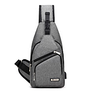 Unisex Bags Canvas Sling Shoulder Bag for Casual Sports Outdoor Office & Career Professioanl Use All Seasons Blue Black Gray Purple