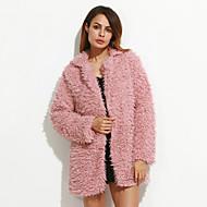 Løstsiddende Dame Ensfarvet Vintage Frakke