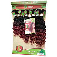8inch 8 pcs /lot Brazilian deep wave ombre burgundy Virgin Hair Brazilian Virgin Hair brazilian Hair Weave Bundles cheap human hair