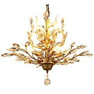 tanie -LightMyself™ 7 świateł Kryształ Lampy widzące Światło rozproszone Mosiądz Metal Kryształ, Styl MIni 110-120V / 220-240V Nie zawiera żarówek / E12 / E14