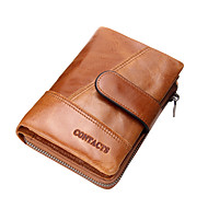 Men Bags All Seasons Cowhide Wallet for Shopping Casual Sports Outdoor Office & Career Coffee Brown