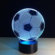 1 kom. 3D noćno svjetlo Daljinsko upravljanje Night Vision Male veličine Promjenjive boje Umjetnički LED Modern/Comtemporary