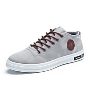 Men's Shoes Canvas Spring Fall Comfort Driving Shoes Sneakers Split Joint For Casual Outdoor Office & Career Black Gray Red Blue
