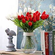 10 Gren PU Tulipaner Bordblomst Kunstige blomster 33CM*5CM