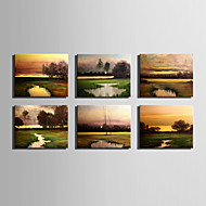 billiga Landskapsmålningar-Hang målad oljemålning HANDMÅLAD - Landskap Europeisk Stil Moderna Duk