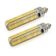 billige Kornpærer med LED-2pcs 5 W 400-500 lm E11 Tubelys Tube 136 LED perler SMD 5730 Varm hvit / Kjølig hvit 220-240 V / 110-120 V / 2 stk. / RoHs