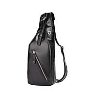 Man Tassen Alle seizoenen PU Sling Shoulder Bag voor Causaal Sport Formeel Professioneel gebruik blauw Zwart Bruin
