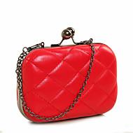 baratos Clutches & Bolsas de Noite-Mulheres Bolsas PU Bolsa de Festa para Casamento / Festa / Eventos / Formal Preto / Vermelho / Damasco