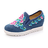 Women's Flats Comfort Canvas Spring Summer Fall Winter Athletic Casual Outdoor Flat Heel Black Beige Ruby Blue Flat