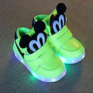 tanie Obuwie dziewczęce-Obuwie Derma Wiosna Comfort / Buty do nauki chodzenia / Świecące buty Tenisówki Haczyk i pętelka / LED na Black / Różowy / Light Green