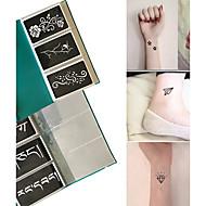 other-Non Toxic Mintás-Glitter Tattoo StencilsPapír-Fekete-Felnőtt-Csillámos tetoválás