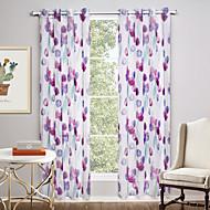 To paneler Window Treatment Moderne , Nyhet Stue Polyester Materiale Gardiner Skygge Hjem Dekor For Vindu