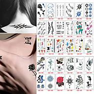 30 Tatoveringsklistremerker Andre Ikke GiftigBaby Barn Dame Herre Tenåring Flash-tatovering midlertidige Tatoveringer