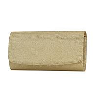 Χαμηλού Κόστους -Γυναικεία Τσάντες Πολυεστέρας Βραδινή τσάντα / Τρίπτυχο Μονόχρωμο Χρυσό / Μαύρο / Ασημί