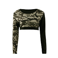 cheap Women's Tops-Women's Going out Active Street chic T-shirt - Camouflage