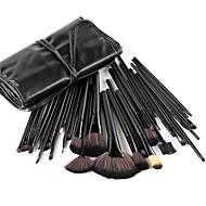 Conjunto de Pinceis para Maquiagem Profissional com 32 peças Preto