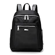 ユニセックス バッグ ナイロン スクールバッグ のために ショッピング カジュアル スポーツ プロユース オールシーズン ブルー ブラック アメジスト