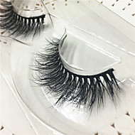 Eyelashes lash Others Eyes Thick Lifted lashes Volumized Handmade Animal wool eyelash Black Band 0.10mm 15mm