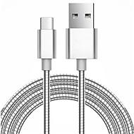 voordelige -Micro USB 3.0 Magnetisch Draagbaar Kabel Voor Samsung Huawei Sony Nokia HTC Motorola LG Lenovo Xiaomi 100 cm Metaal