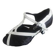 baratos Sapatilhas de Dança-Mulheres Sapatos de Dança Latina / Sapatos de Salsa Cetim Sandália Fru-Fru Salto Personalizado Personalizável Sapatos de Dança Roxo /